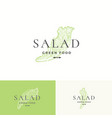 salad lettuce abstract sign symbol or logo vector image