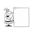 Santa claus cartoon vector image vector image