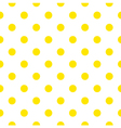 Seamless pattern or background with yellow dots vector image vector image