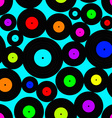 seamless pattern vinyl discs vector image