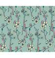 seamless pattern with hand drawn branches vector image