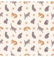 Seamless pattern with the cats vector image vector image