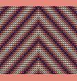 seamless violet corner knitting pattern vector image vector image