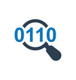 search information data search icon vector image vector image