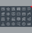 seo thin line related icons set vector image