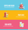 set of icons on drinks theme vector image