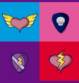 set of rock icons vector image