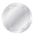 silver seal vector image vector image