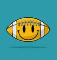 smiley american football design vector image