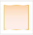 Sticker orange glass isolated object vector image vector image