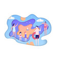 summer holiday - modern paper cut vector image vector image