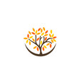 tree wellness logo icon design vector image vector image