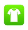 tshirt icon digital green vector image vector image