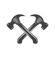 Two crossed hammers Logo elements Black and white