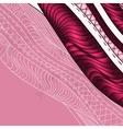 Vintage decorative waves background vector image