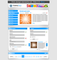 Web design template set vector | Price: 3 Credits (USD $3)