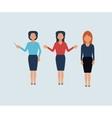 Set of businesswomen vector image