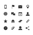 contact and communication internet icons vector image