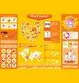 summer beach travel icon set infographics diagram vector image