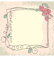 Vintage frame pattern and birds hand-drawing vector image