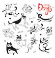 11 hand drawn cute dogs vector image vector image