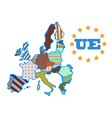 abstract map of European Union vector image vector image