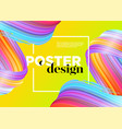 abstract minimal poster design background vector image