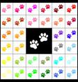 animal tracks sign felt-pen 33 colorful vector image vector image