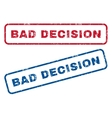 Bad Decision Rubber Stamps vector image vector image