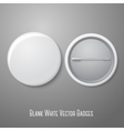 Blank white badge Both sides - face and back vector image