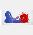 blob spiky creatures vector image vector image