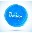 Bright blue watercolor circle vector image
