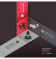 Business circle origami style options banner vector | Price: 1 Credit (USD $1)