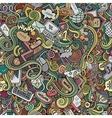 Cartoon doodles hand drawn internet social vector image vector image