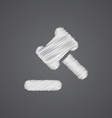 court law sketch logo doodle icon vector image