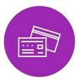 Credit card line icon vector image vector image