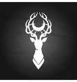 Deer silhouette and moon vector image vector image