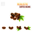 easy to use colored coffee beans for your design vector image vector image