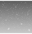Falling snowflakes on grey background vector image
