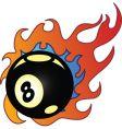 flaming balls vector image vector image