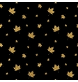 Gold leaf maple seamless pattern