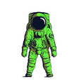 green astronaut on isolated background image vector image vector image