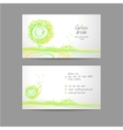 Green dising ornament card with icons of contacts vector image vector image