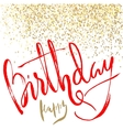 Greeting card for birthday with pattern of gold vector image