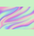 holographic background iridescent hologram vector image vector image
