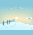 infographics for winter solstice on december 21-22 vector image vector image