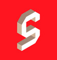 isometric letter s vector image vector image