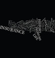 Life insurance premiums text background word vector image