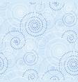 light blue winter frost pattern seamless motif vector image