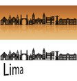 lima skyline vector image vector image
